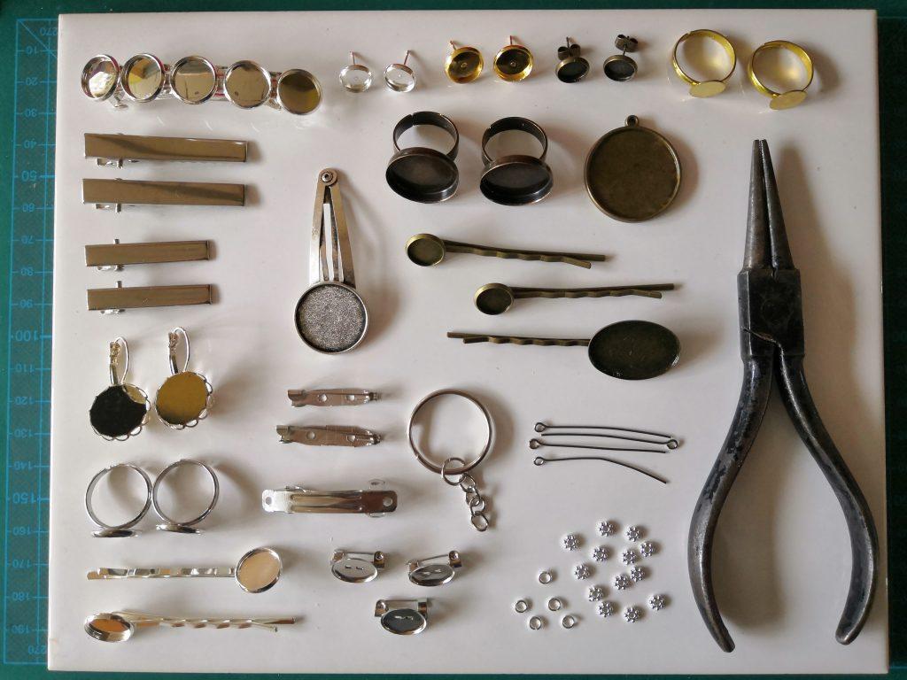 Fimo Zubehör, Werkzeug und Schmuck-Rohlinge für Modelliermasse